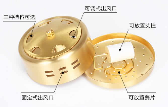 纯铜艾灸盒