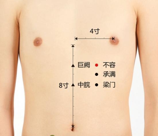 胸部穴位图